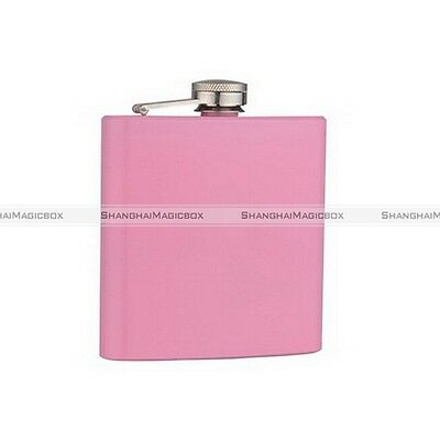 8oz Stainless Steel Alcohol Drink Liquor Whisky Hip Flask Pink