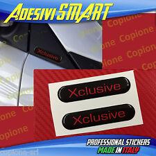 2 Adesivi Resinato 3D BRABUS Xclusive Smart Nero e Rosso Sportello Spechietto