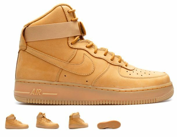 Air Force1 High '07 LV8 Flax Wheat 806403 200 SIZES 4Y~15 AUTHENTIC