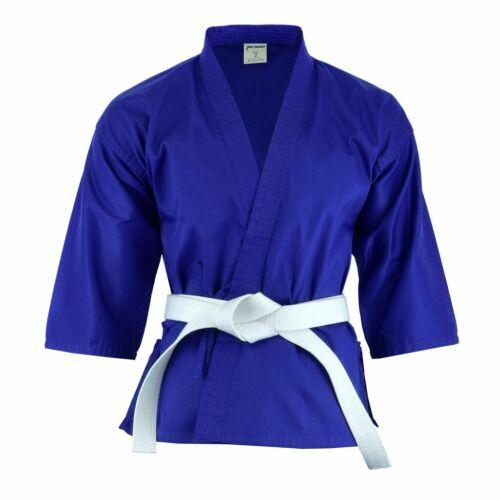 Colored Karate Uniform Gi Light Weight Blue Red