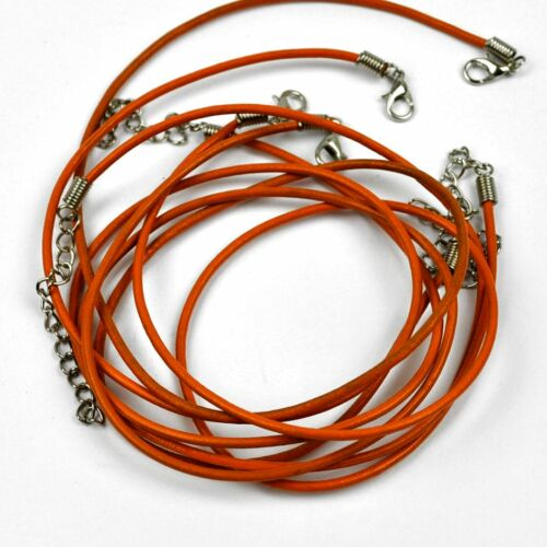 45 CM New Necklace Leather Band Colours Real Chain 1,5 MM Approx