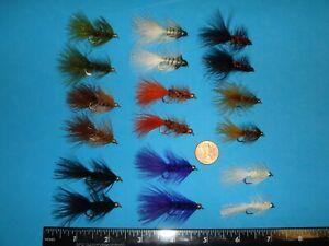 Estaz egg bead head 24 pcs salmon trout flies asst 2 size 10 fly fishing