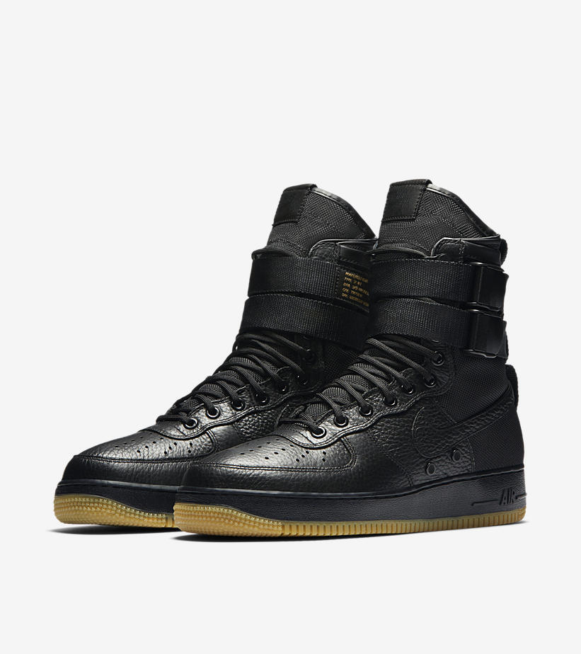 NIKE SPECIAL FIELD AIR FORCE 1 ONE BLACK GUM ALL SIZES UK 8 8.5 9 NEW
