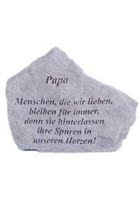 Gedenkstein-Papa-aus-Steinguss-18-x-14-cm-Grabschmuck