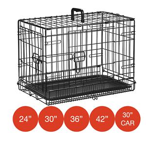 Cage pour chien pliante en métal par M. Barker, caisses de dressage pour chiots, 5 tailles 24-42 pouces