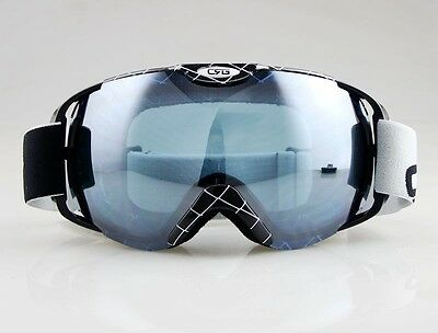 NEW Brand Black White Frame Adult Snow Snowboard Ski Goggles Anti-Fog Double Len