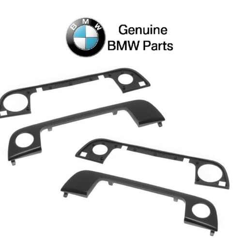 For BMW E34 Pair Set of Front Left /& Right Outside Door Handle Cover /& Seal OES