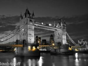 Image Is Loading Black Amp White Tower Bridge Iconic London Canvas