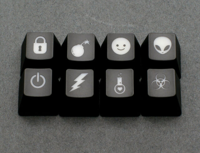 Max Keyboard Custom R4 / E 1x1  Backlight Cherry MX Key Cap Pack