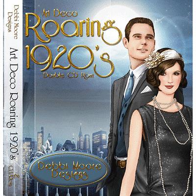1 x Debbi Moore Designs Art Deco Roaring 1920's Double CD Rom (294623)