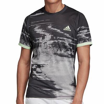NEW Mens adidas Go To Performance Tee NYC Tennis Black Climalite T-Shirt Size M