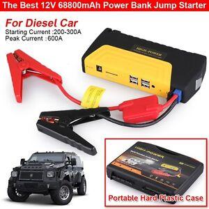 68800mah 12v portable car jump starter pack booster charger battery power bank ebay. Black Bedroom Furniture Sets. Home Design Ideas