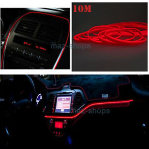Details about 10M Car Led Cold Tape Lamp Light Strip EL-Wire 12V Auto on