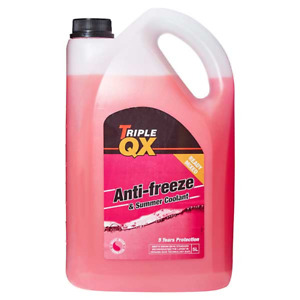 5L Antifreeze Summer Coolant 5 Litre Red Ready Mix GL12+ Standard -36C Triple QX