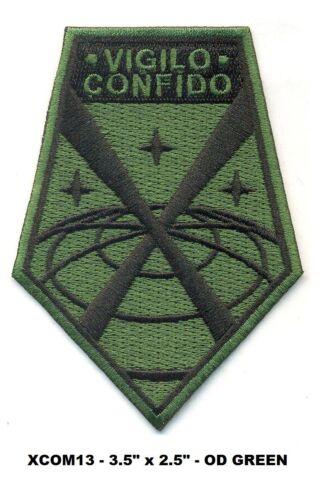 HOOK BACK OD GREEN PATCH X-COM VIGILO CONFIDO XCOM13V