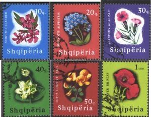 Albanien-988-993-kompl-Ausg-gestempelt-1965-Bluetenpflanzen