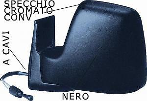 SPECCHIO SPECCHIETTO RETROVISORE SX FIAT SCUDO 1995 /> 2007 A CAVI NERO