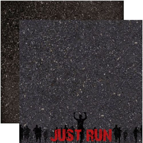 Reminisce RUNNING 12x12 Dbl-Sided 2pc Scrapbooking Paper JUST RUN