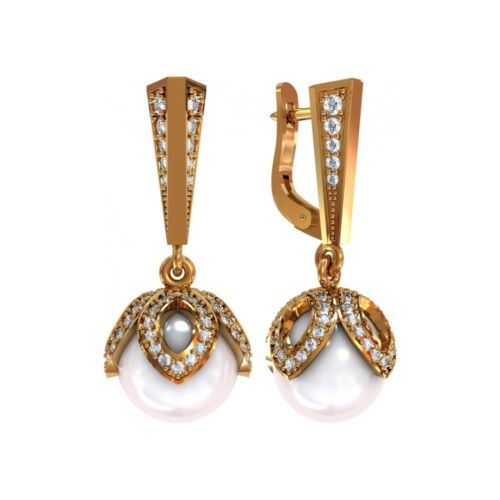 2 pairs Earring Wax patterns for lost wax casting Gold Jewelry /_ 112735