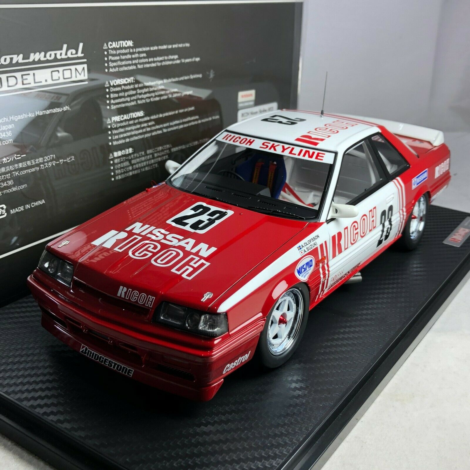 1 18 IG ignition  IG1726 RICOH Nissan Skyline () 1988 JTC