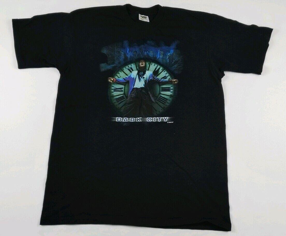 Vintage 1998 Dark City Movie Promo Tee ORIGINAL Single Stitch USA Sci Fi Sewell
