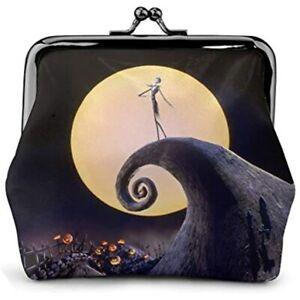 Nightmare Christmas Jack skellington handmade zipper fabric coin change purse card holder