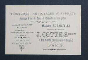 Carte De Visite COTTE Maison Rubantelle Dentelle Gant