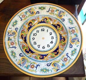 Image is loading Big-Italian-hand-painted-Deruta-ceramic-plate-Sisani- & Big Italian hand painted Deruta ceramic plate Sisani Nicoletta with ...