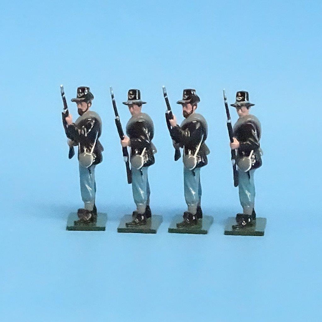 CORD-114 - Iron Brigade Standing Loading (4 Figures) - ACW - Shenandoah - 54mm