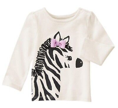 "NWT Gymboree /""Everyday Dress-Up/"" long sleeved sparkly zebra top 2T girls"