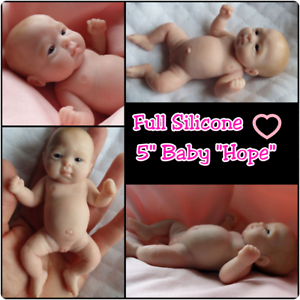 Full Silicone 5 Baby Hope Caucasian or Biracial