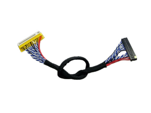 40cm 400mm FIX-30Pin 2ch 8bit LVDS Cable for 17inch~21inch LCD Screen