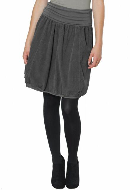 CASPAR RO004 Women Winter Cord Skirt Stretch Waistband A Line Knee Length NEW