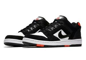 55669e88e9a32 Details about NIKE SB AIR FORCE II LOW BLACK/WHITE/HABANERO RED MEN SIZE 9  NEW AO0300-006