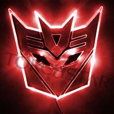 Edge Glowing LED Transformers Decepticons Car Emblem Car Badge Car Logo - RED