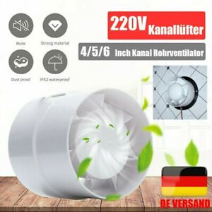 4 Zoll Rohr-Einschub-Ventilator Ø 100 Lüfter Badlüfter Kanallüfter Metall
