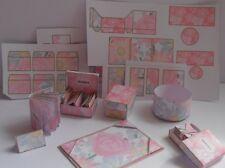 dollhouse miniature stationery, desk items plus extra printies