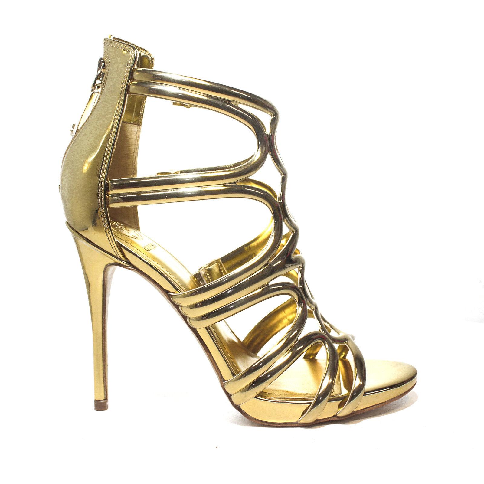 Guess color sandalo con tacco alto color Guess oro articolo FLTE22 LEL03 GOLD PE 2018 6121b8