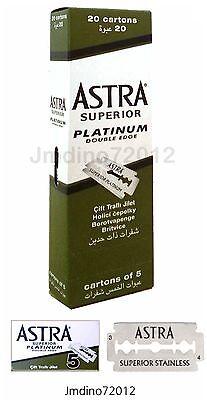 Astra Superior Platinum Double Edge Shaving Razor Blades 100 pcs-Barber Favored