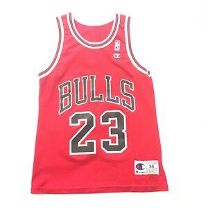 super popular ab3ed 71585 Details about Vintage Michael Jordan Chicago Bulls Jersey #23 Size 36  Champion