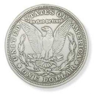 Silver-Morgan-Eagle-Dollar-Concho-Screwback-Leather-Factory-Tandy-1375inch
