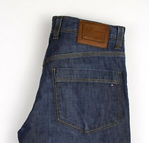 Tommy-Hilfiger-Hommes-Slim-Jeans-Jambe-Droite-Taille-W31-L34-AOZ1026