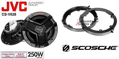 Rear Adapters For Honda /& Acura 1 Pair Front JVC CS-J620 6.5 Speakers