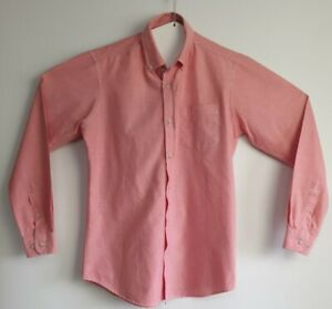 Connor-Men-039-s-Pink-Long-Sleeve-Shirt-Size-S