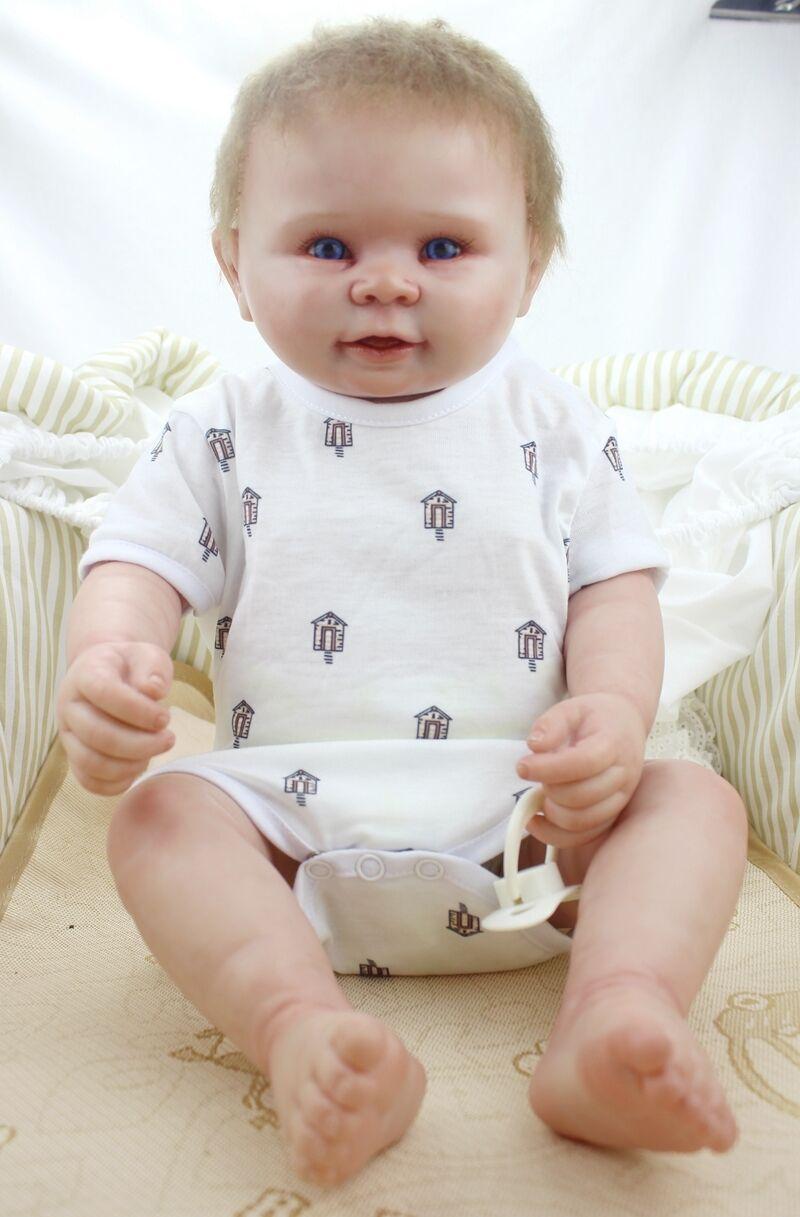 Vinilo De Silicona De Cuerpo Completo 22  Muñeca Bebé Niño Reborn Lavable Muñecas Ropa Regalos