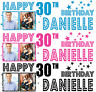 2 x PERSONALISED BIRTHDAY BANNER PARTY PHOTO 18th 21st 30th 40th-any name age S