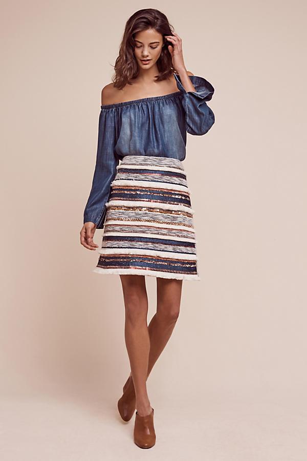 ANTHROPOLOGIE - MOULINETTE SOEURS - Erine Beaded Mini Skirt size 10  128 NEW
