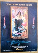 STEVE VAI Ibanez Guitars magazine ADVERT/Poster/clipping 11x8 inches