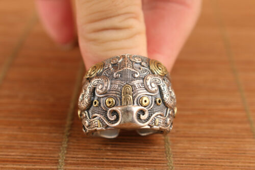 Lion Brooch With Repousse Silver Work 1920 20g Chinese Export Silver Foo Dog
