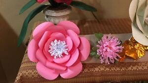 Details About Paper Flower Template 2 Small Diy